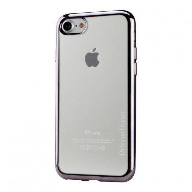 Apple iPhone 6 PrimeTime Clear Case Transparent Shockproof Blue Bumper Cover