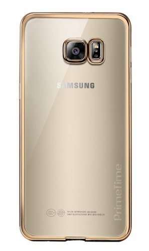 Samsung Galaxy S6 PrimeTime Clear & Gold Case Transparent Shockproof Cover