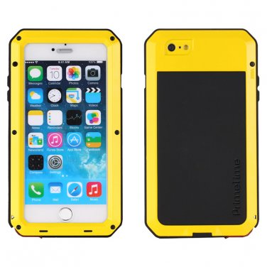 Apple iPhone 6 Yellow PrimeTime Water Resistant Tempered Glass Case Cover