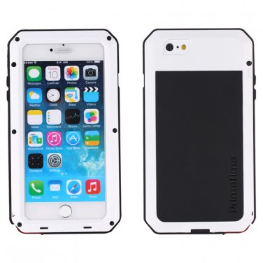 Apple iPhone 6 Plus White PrimeTime Water Resistant Tempered Glass Case Cover