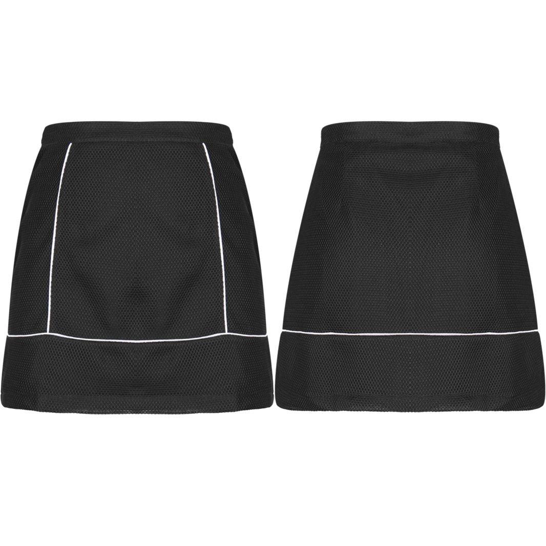 New Women Mini High Waist A Line Black Short Skirt UK Size 14 Black