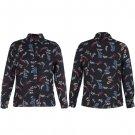 New Women Celeb Black Crepe Casual Blouse Tops Blouse Print Basic Shirt UK Size 10 Black