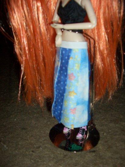 Blue Hippie Skirt for Pullip 1