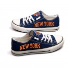 Lebron James New York Knicks Shoes Graffiti Canvas Sneakers penny hardaway Blue