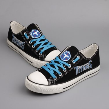 sale retailer 4fb43 2a64f Custom Made Tennessee Titans Shoes Men Women Canvas Sneakers ...