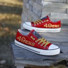 San Francisco 49ers Gifts Mens Shoes Womens Canvas Sneakers Red Yellow