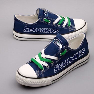 purchase cheap 856ef 07807 Seattle Seahawks Football Shoes Canvas Sneakers Unique Gift ...