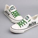 New York Jets Canvas Sneakers Men Women Shoes Graffiti Shoes, Gift Idea White