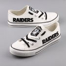 Oakland Raiders Gifts for Men Women, Canvas Sneakers Graffiti Shoes White