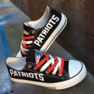 Best New England Patriots Shoes Men Women Gifts Canvas Sneakers Black White