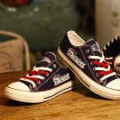 Cool New England Patriots Gifts Football Canvas Shoes Sneakers Gift for Men Women Blue Red
