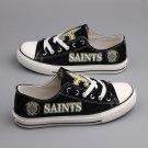 Custom New Orleans Saints Shoes Canvas Sneakers Black Women Men Best Gift Idea