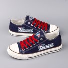 New England Patriots Gift Ideas for Men Women Dad Custom Canvas Shoes Sneakers Blue