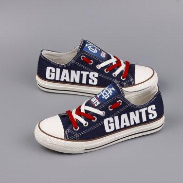 buy online 7d31e e936e New York Giants Shoes For Sale Women Men Canvas Sneakers, Unique Gift Idea