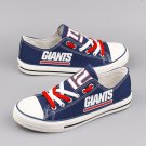 Custom New York Giants Shoes Football Canvas Sneakers Blue Gift Ideas for Men