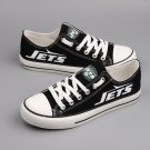 New York Jets Golf Shoes Custom Canvas Sneakers for Men Women Black