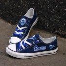 Custom Los Angeles Rams Shoes Tennis Canvas Sneakers for Men Women Gift Bag Blue