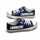 Los Angeles Chargers Shoes Football Canvas Sneakers Men Women Blue