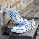 Indianapolis Colts Canvas Sneakers Women Men Custom Shoes White Gift for Him