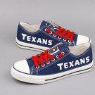 Custom Houston Texans Shoes Christina Graham Canvas Sneakers Blue