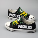 Green Bay Packers Shoes for Men Women Canvas Sneakers Black Gift Ideas