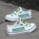 Green Bay Packers Canvas Sneakers White Shoes for Men Women Best Gift Idea