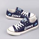 Detroit Lions Shoes for Sale Men Women Canvas Sneakers Blue Gift Idea