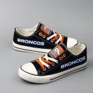 Denver Broncos Shoes Men Women Canvas Sneakers Black Fans Gift Idea