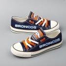 Denver Broncos Tennis Shoes Canvas Sneakers for Men Women Christmas Gift Idea