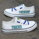 Frenship Tigers Football Baseball Custom Canvas Sneakers Women Men Shoes White