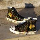 Chicago Blackhawks High Top Canvas Sneakers Men Women Shoes Black Cool Couple Gift Idea