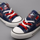 Printed Columbus Blue Jackets Shoes Tennis Canvas Sneakers Unisex Gift Idea