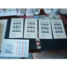 USPS of 1986 AMERIPEX PRESIDENTS STAMPS SC# 2216-9 MNH 4 SHEETS OF 9 FLAWS Postage Booklet