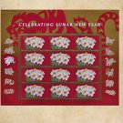 USPS YEAR OF THE TIGER 44c MINT SUPERB-NH SHEET USA Booklet Postage Stamps