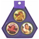 Decorative pill boxes, pack of 3
