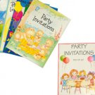party invitations assorted designs pad of 20