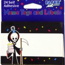 Grim Reaper name tags/labels, pack of 24