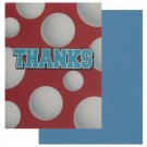 Volleyball thank you cards, set of 8