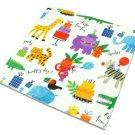 Animal print Happy Birthday flat wrapping paper