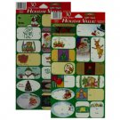 To and From holiday stick labels, pack of 30