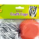 Animal Print Paper Craft Cups