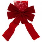Velvet Red Holiday Bow Decoration