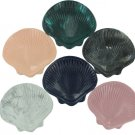 Shell-shaped soap dish, assorted colors