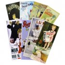 Long art prints, assorted designs, pack of 4