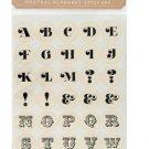 Itsy Bitsy Neutral Alphabet Stickers
