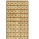 Brown Square Alphabet Stickers
