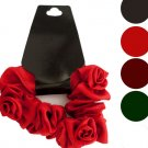 Mini Twisted Ruffle Rose Accent Hair Twister