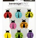 Ladybugs Beverage Bling Stickers