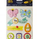 Easter Joy Dimensional Stickers with Glitter Accents