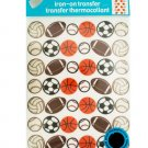 Iron-On Flocked Sports Balls Transfers